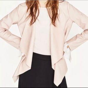 Zara nude leatherette jacket size s